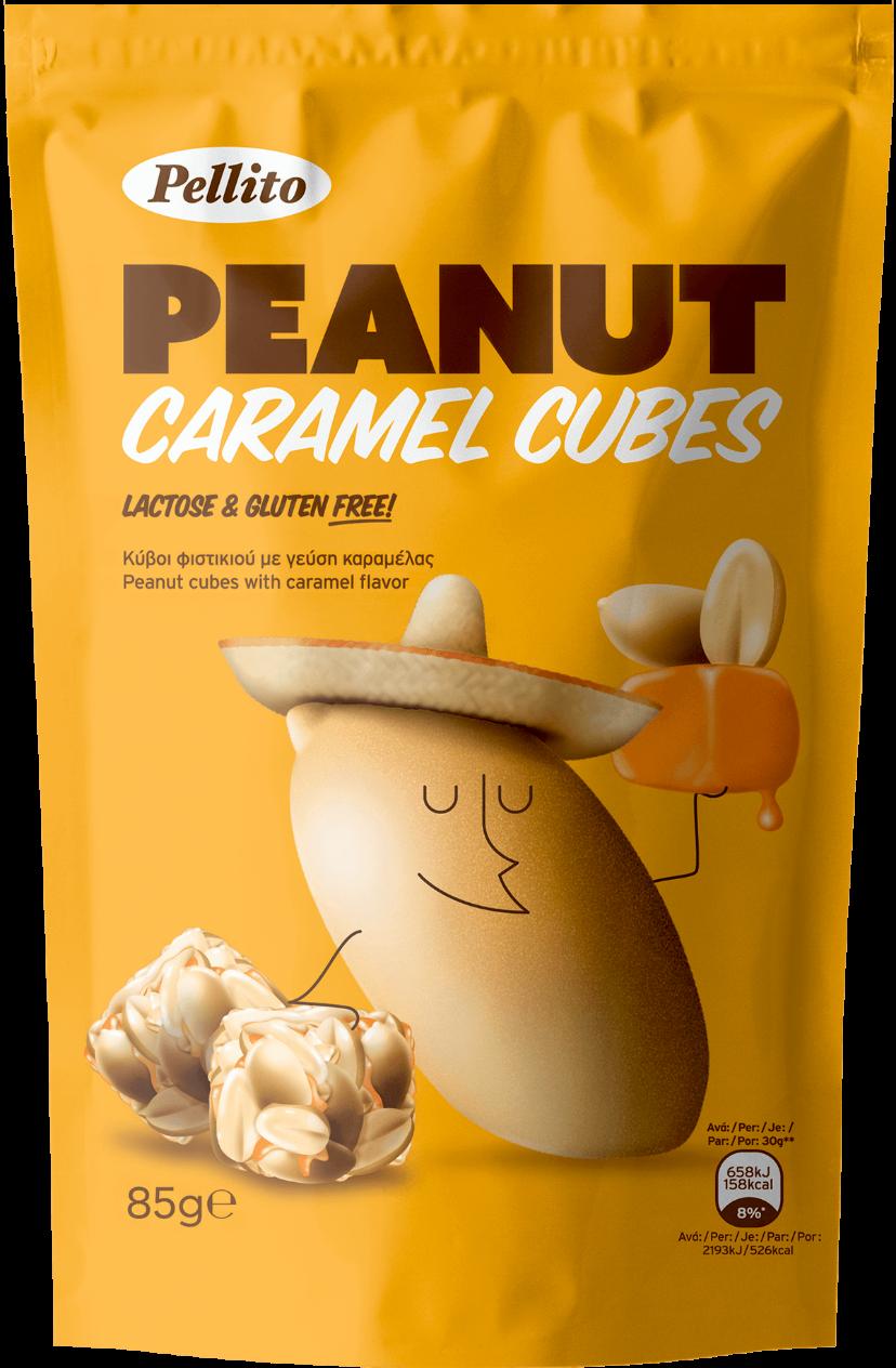 Peanut Caramel Cubes